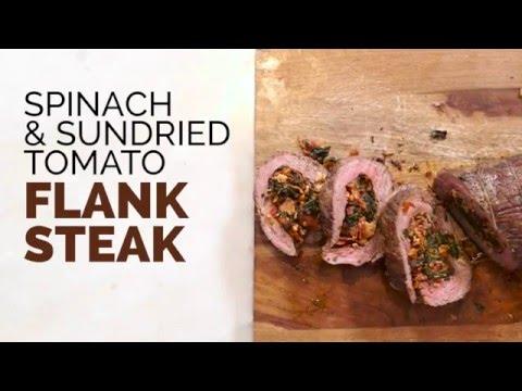 Paleo Spinach & Sundried Tomato Flank Steak