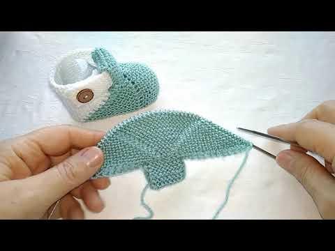 Вязание крючком и спицами детские пинетки