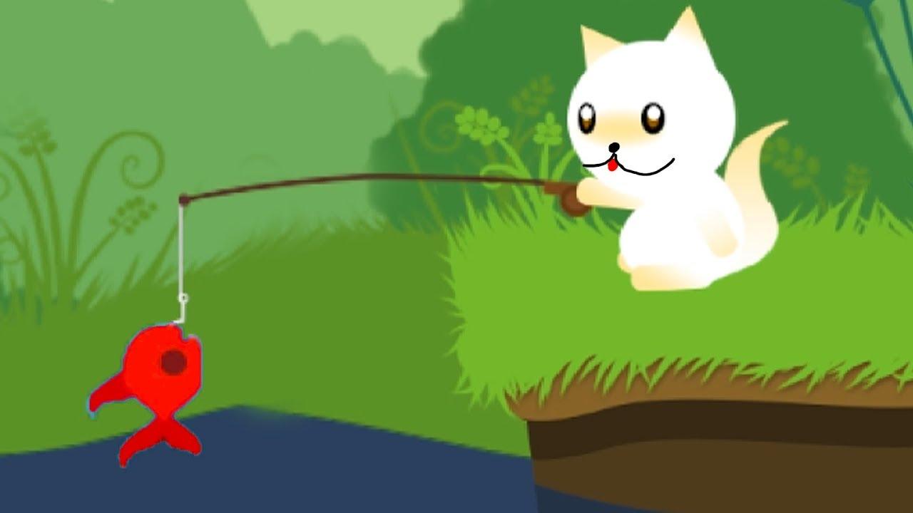 КОТЕНОК РЫБОЛОВ #1 Новая игра про котика. Кид на рыбалке на канале #пурумчата