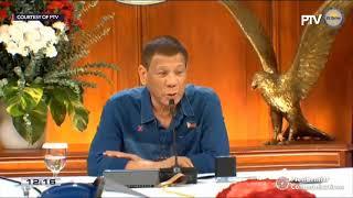 President Rodrigo Duterte addresses the Philippine nation |  Sunday, August 2