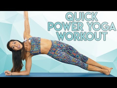10 Minute Power Yoga Workout with Myra | Belly Fat, Core, Arms, Quick At Home Fitness