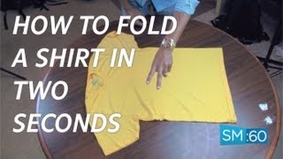 How to Fold a Shirt in Under 2 Seconds - 2 Easy Options