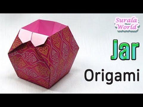 Origami -  Jar, Pot, Box (How to, Tutorial, DIY)