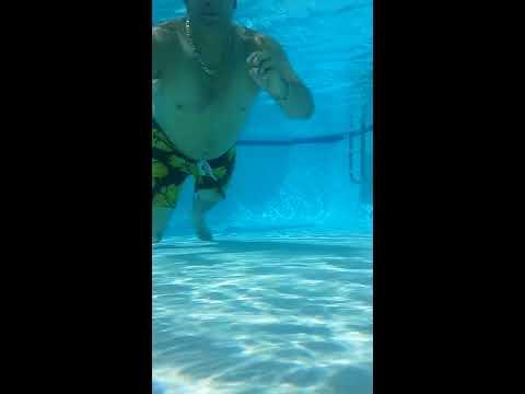 Found Mario Swimming Under Water (Super Mario Bros) Pool Underwater