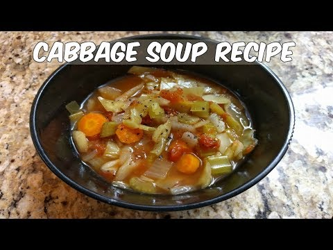 CABBAGE SOUP RECIPE | SLOWCOOKER MEALS