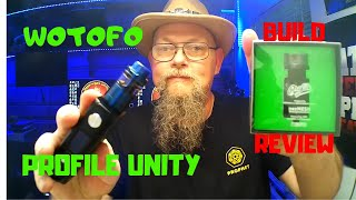 Wotofo Profile Unity RTA Review & Build - How to Wick The Profile Unity
