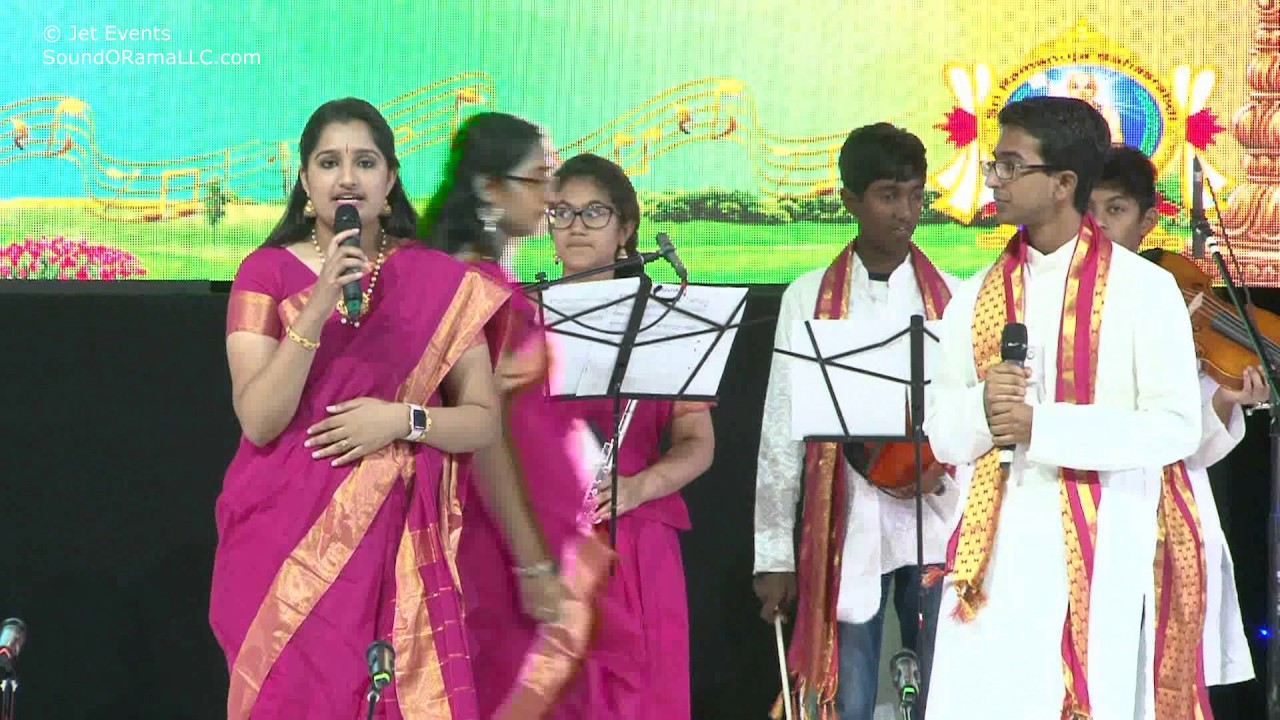 "Raganjali Singers singing ""Vardhatham Yathiraja"" at Sashtipoorthi Celebrations."