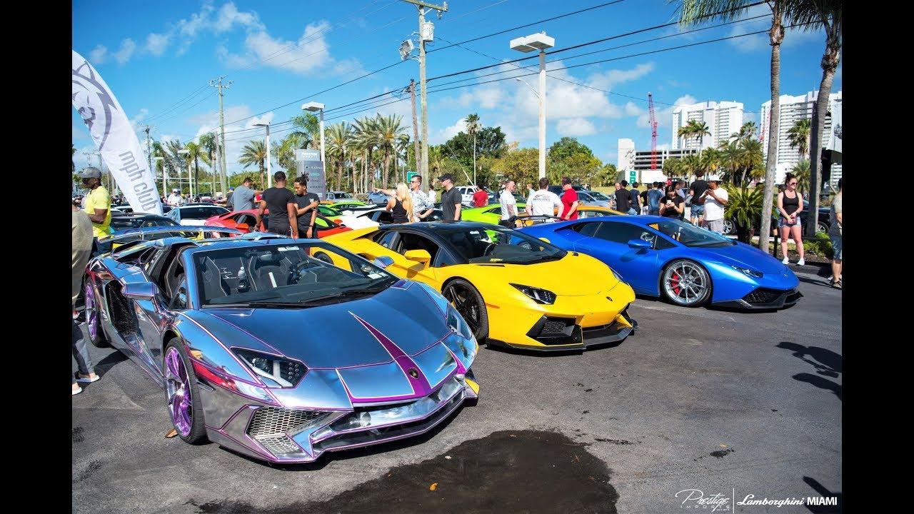 100 Lambos Aventador Huracan Murcielago Arriving To Lamborghini