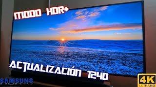 Luego de la actualización 1240 del firmware en televisores samsung 4k hdr serie mu; el modo hdr+ tiene una mejora su rendimiento al simular conteni...