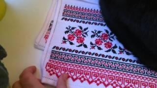 Вышивка крестом- рушник для иконы готов!)))