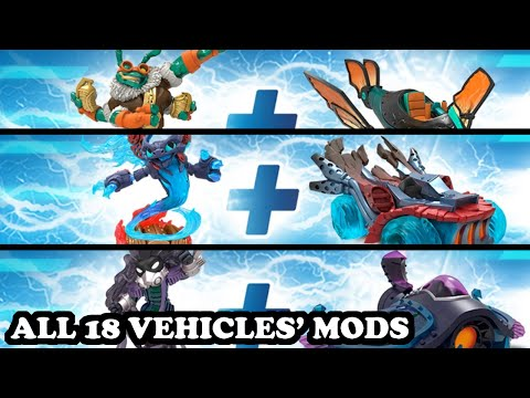 Skylanders Superchargers - All 18 Vehicles Mods GAMEPLAY