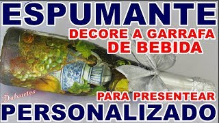 GARRAFA DE BEBIDA PERSONALIZADA PARA PRESENTE ( CHAMPAGNE)