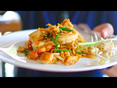 Massive THAI STREET FOOD tour in Krabi, THAILAND | BEST Pad Thai EVER + Famous Southern Thai food