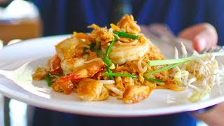 Massive THAI STREET FOOD tour in Krabi, THAILAND | BEST Pad Thai EVER + Famous Southern Thai food