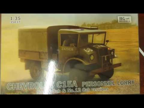 IBG Models 1/35 CHEVROLET C15A Personnel Lorry #35037 Inbox review
