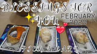 🔮PICK A CARD✨ YOUR FEBRUARY 2020 BLESSINGS WHAT WILL HAPPEN?🍀🌜🔮🌛