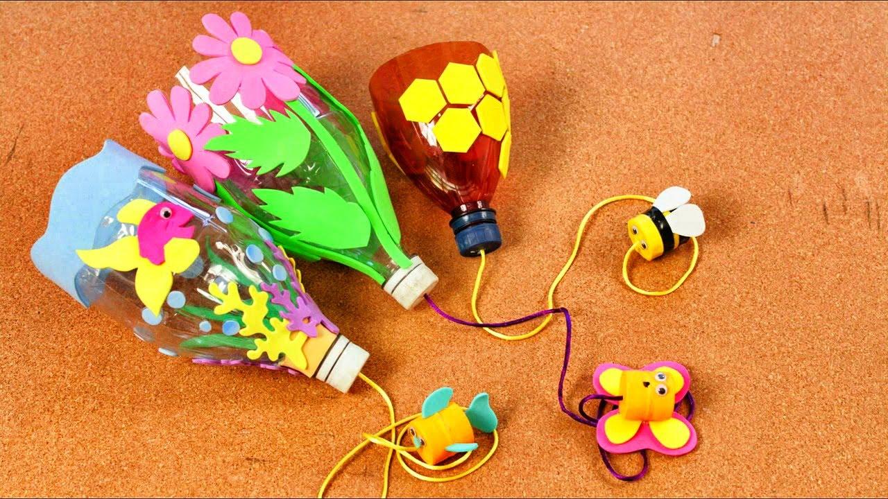 ¿Como hacer un balero con botellas de plástico? - Manualidades para niños - Reciclaje