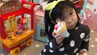 アンパンマンカフェキッチンのおもちゃでお料理ごっこ!おままごと Pretend Play Anpanman Cafe Kitchen Cart Toy