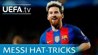 Lionel Messi: All seven UEFA Champions League hat-tricks