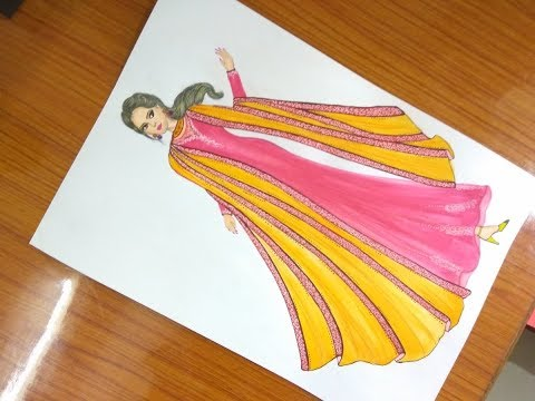 How to draw beautiful dress #56
