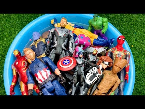 Colors and Characters,Learn with Iron Man, Super Heroes, Paw Patrol,Hulk, in Pool #1