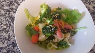 Aquaponics Salad harvest: endless food preppers