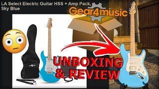 Gear4Music - LA Electric Guitar & AMP *UNBOXING & REVIEW*