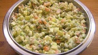 Салат Оливье / How to make Olivier salad