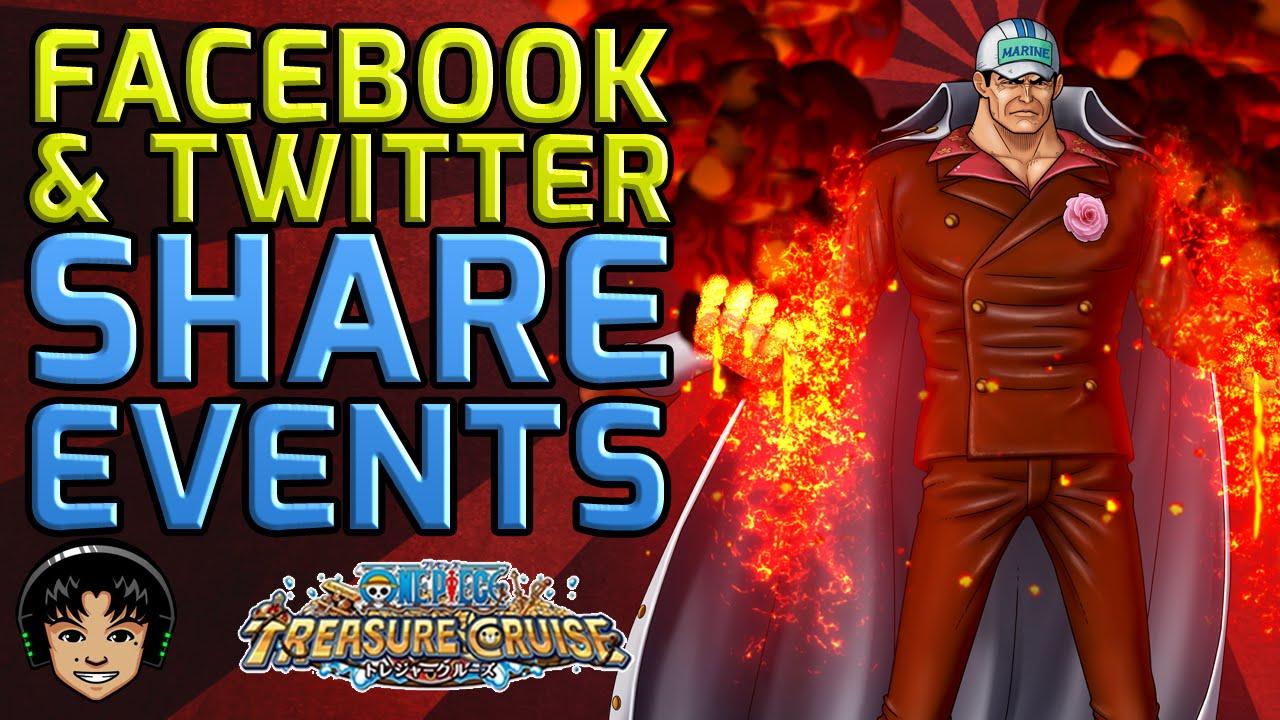 Japanese Akainu Facebook & Twitter Share Events [One Piece Treasure Cruise]