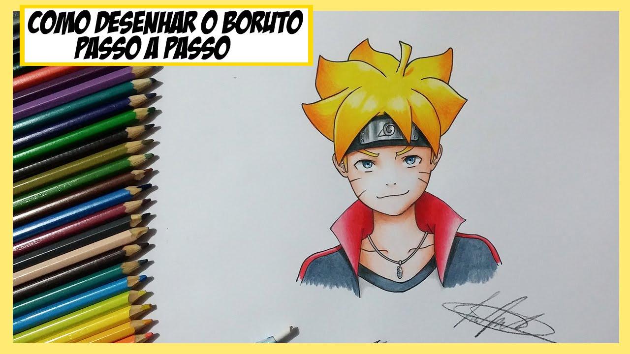 Naruto And Hinata Wallpaper 3d Como Desenhar E Colorir O Boruto Bolt Passo A Passo