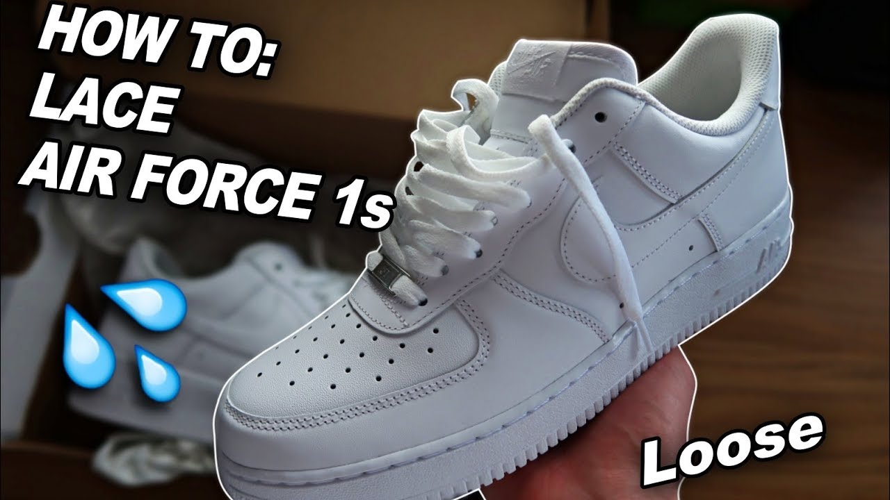 100% authentifié recherche d'authentique de style élégant How To Lace Air Force 1s (Loosely) 🔥
