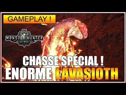 GAMEPLAY - LAVASIOTH IMMENSE ÉVÈNEMENT - MONSTER HUNTER WORLD - FR thumbnail