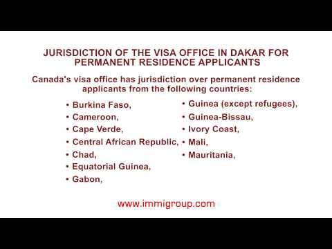 Jurisdiction of the visa office in Dakar for permanent residence applicants