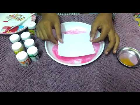 water marble nail art for beginners in hindi using water and oil
