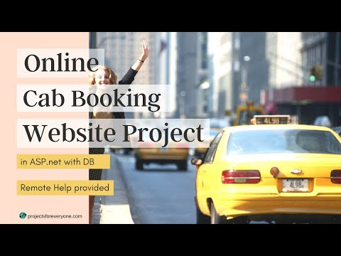 Online Cab / Taxi Booking Website Project in ASP.Net with C#.Net and Sql Server