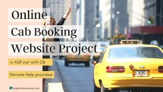 Online Cab/Taxi Booking/Rental Portal/Project/Website in ASP.Net with C#.Net and Sql Server