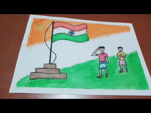 Republic Day Drawing How To Draw Republic Day Scene Of 26th