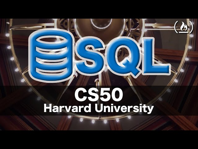 SQL - Intro to Computer Science - Harvard's CS50 (2018)