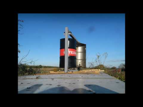 VAWT wind turbine from oil drum from scrap part 24 CHANGES TO BLADE SYSTEM