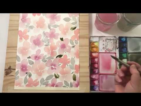 Watercolor Floral Pattern and Bookmark Tutorial- Part 1