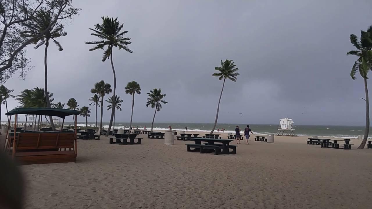 Fort Lauderdale Beach Before Hurricane Matthew Youtube