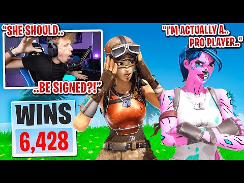 I met the sweatiest GIRL PRO PLAYER in duos fill in Fortnite... (she should be SIGNED!)