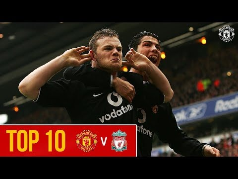 Top 10   Manchester United Goals at Anfield   Premier League   Liverpool v Man Utd