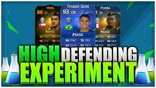 HIGH DEFENDING EXPERIMENT!!! FIFA 15 ULTIMATE TEAM