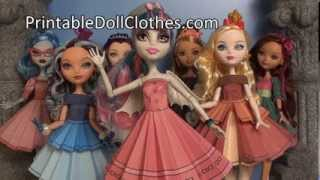Ever After and Monster High Starter Tutorial for Printable Doll Clothes