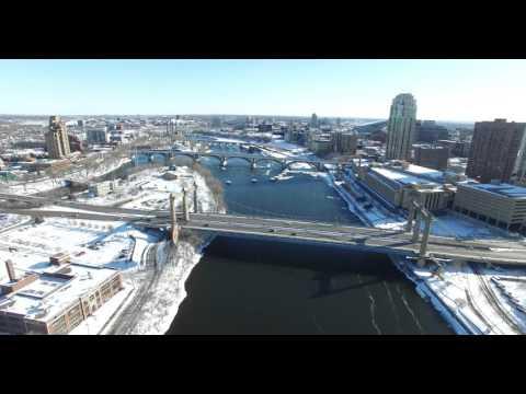 Flying over Northeast Minneapolis