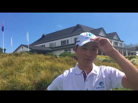 Min Woo Lee after round three of the 2017 Asia-Pacific Amateur Championship in New Zealand