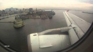 Tam A319 Wingview Landing In Rio De Janeiro Santos Dumont