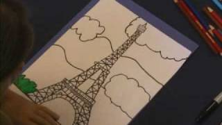 Draw The Eiffel Tower(http://www.youngrembrandts.com/ Take a trip to Paris with Young Rembrandts, watch as 11 year old Hannah transforms a blank piece of paper into a beautiful ..., 2010-02-15T15:46:41.000Z)