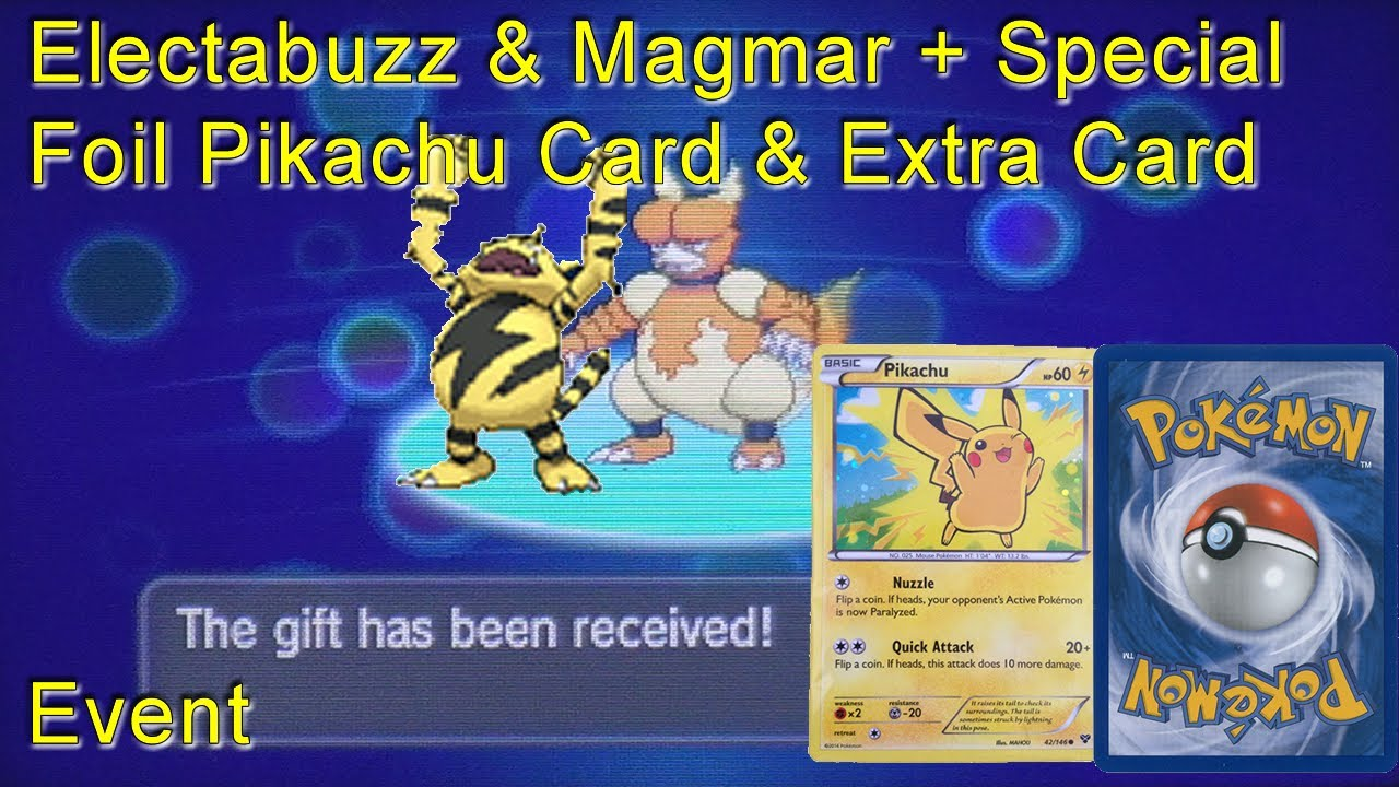 Pokemon X/Y - Electabuzz & Magmar Event 4th April 2014 ...